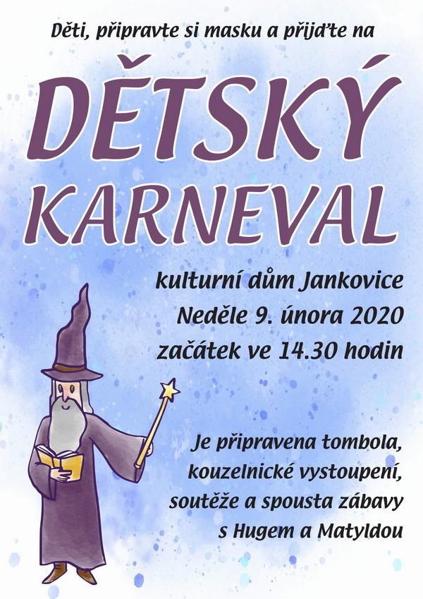 Pozvánka na karneval 9.2.2020